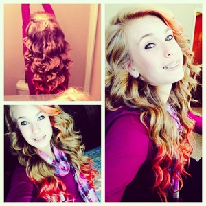 Curled my hair for thanksgiving!
