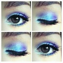 Peacock Inspired Eye Look