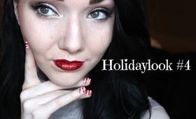 Holidaylook#4 Smokey eye and red glitter lips