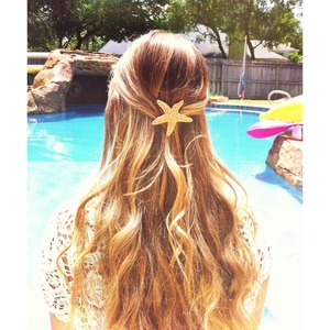 How I wore my hair almost all summer 🐚
