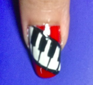 piano nail art to watch video tutorial for this look, SUBSCRIBE free to my youtube nailart channel: www.youtube.com/nailartbynidhi