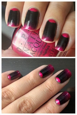 Used OPI's It's All Greek To Me and Black Onyx