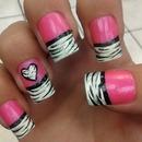 Pink w/ Zebra Tips