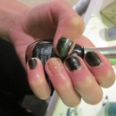 Sparkly Black Nails