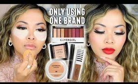 Full Face ONE BRAND Makeup Tutorial   Holiday Drugstore Look