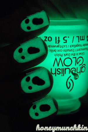 OPI - Alpine Snow China Glaze - Ghoulish Glow W7- 26 Black  Original blog post and more information: http://wp.me/p22GZ2-1iV