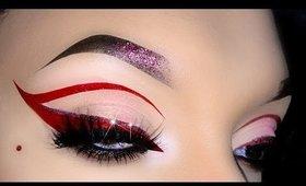 Red Cut Crease / Cat Eye Makeup Tutorial