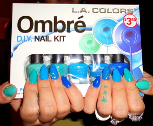 really cool kit I got from family dollar! They also come in purples, pinks and browns! I want them all!!!