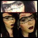 Lace Mask Makeup