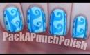 Greek Wave Pattern Nail Art Tutorial