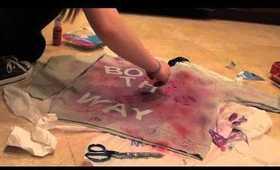 DIY-Born This Way Lady GaGa Inspired Sweatshirt