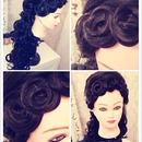 Vintage curls and down do