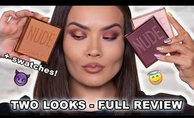 NEW HUDA BEAUTY NUDE OBSESSIONS REVIEW + LOOKS | Maryam Maquillage