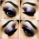 Smokey Purple Glitter Eye