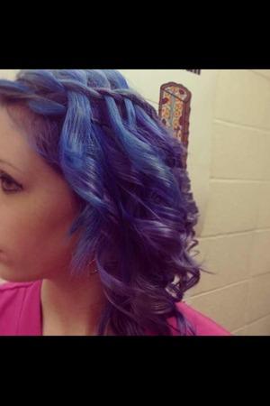 Water fall braid & curls on short hair.