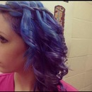 Blue & purple hair