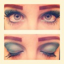 blue//teal makeup