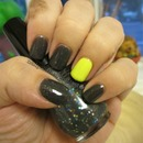 Grey and Neon Yellow