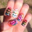 Rainbow Lip nails