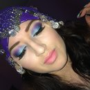 Blue and purple eyeshadow from Electric Palette by Urban Decay
