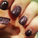 Dark Nails with glitter