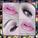 Neutral cateye and pink lippie
