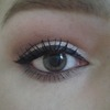Winged eyeliner. first attempt :)
