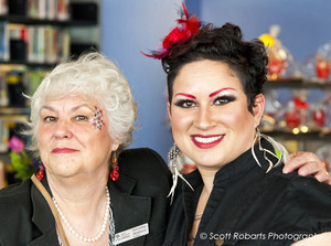 Library Gala. Face painting for adults attending event