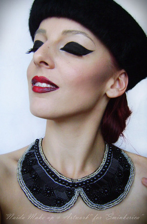 My facebook page: https://www.facebook.com/pages/Naida-Make-up-and-Artwork/126464104080124 Tutorial: http://www.sminkerica.com/moda-stil/diy-kragna-ogrlica/