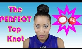 EASY Sleek Top Knot Tutorial with Schwarzkopf Professional OSiS+ Rough Rubber Paste