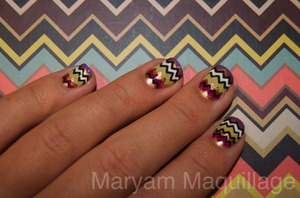 My Missoni striped Nail Art  http://www.maryammaquillage.com/2011/09/tribute-to-missoni.html