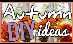 AUTUMN DIY IDEAS (HOME DECOR + SHIRT DESIGN)