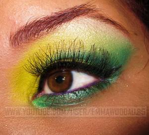 Brazilian Flag Inspired Makeup (ThesPNation Beat Your Face Contest)