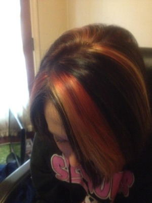 high light lowlight/color and  haircut by Christy Farabaugh