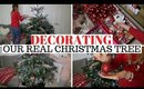 DECORATING OUR REAL CHRISTMAS TREE UK 2019 INSPIRATION + TIPS