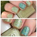 spring glitter nails
