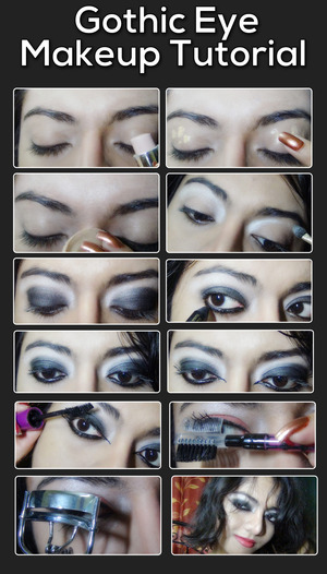 The gothic look is a dark makeup style and a favorite among college girls or teenagers who love the dark devilish look. It's a different genre of makeup which is considered extraordinary and sexy. So if you are willing to experiment with your makeup and get an easy but sexy hot gothic eye makeup look, then this tutorial will blow your mind. Read More: http://www.stylecraze.com/articles/gothic-eye-makeup-tutorial/