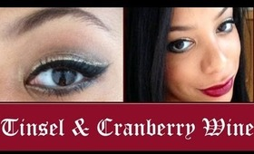 Tinsel & Cranberry Wine ❄ A Holiday Tutorial