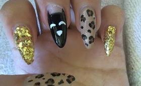 cat leopard nail tutorial