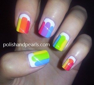 It reminds me of popsicles :) YUM! tutorial on youtube.com/missjenfabulous