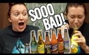 Trying SUPER GROSS WEIRD Soda Flavors! OMG.. [Sunday Funday!]