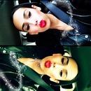 Red lips & bun kinda day :)