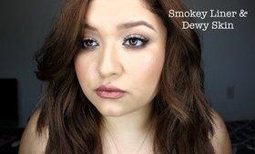 Smokey Liner & Dewy, Luminous skin