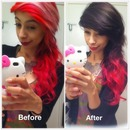 Before and after ❤