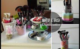 Makeup / Brush Organization and Storage Ideas! ♥ DIY Makeup Storage