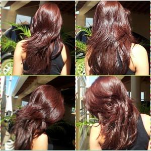 Hair red.?
