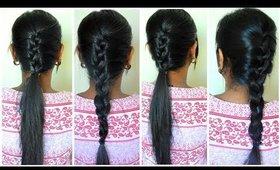 French Braid வீட்டிலேயே எப்படி ஈஸியா செய்வது | Easy & Quick Hairstyle