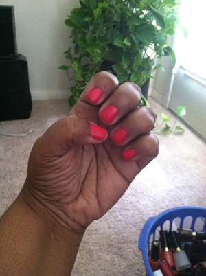 Revlon Nail Color in Optimistic and Matte Finish Topcoat.