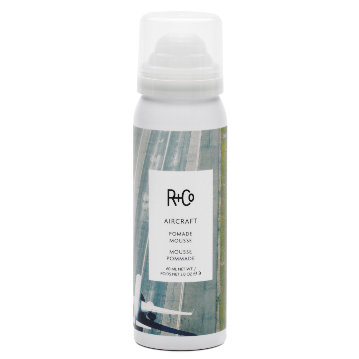 R+Co Aircraft Pomade Mousse  2 oz alternative view 1 - product swatch.