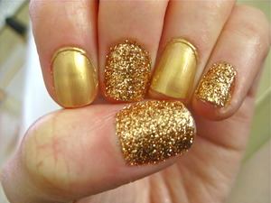 Sephora by OPI in Charge It! + Martha Stewart Glitter in Copper = Sunshine On Your Nails!